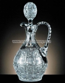 Cut crystal carafe with stopper