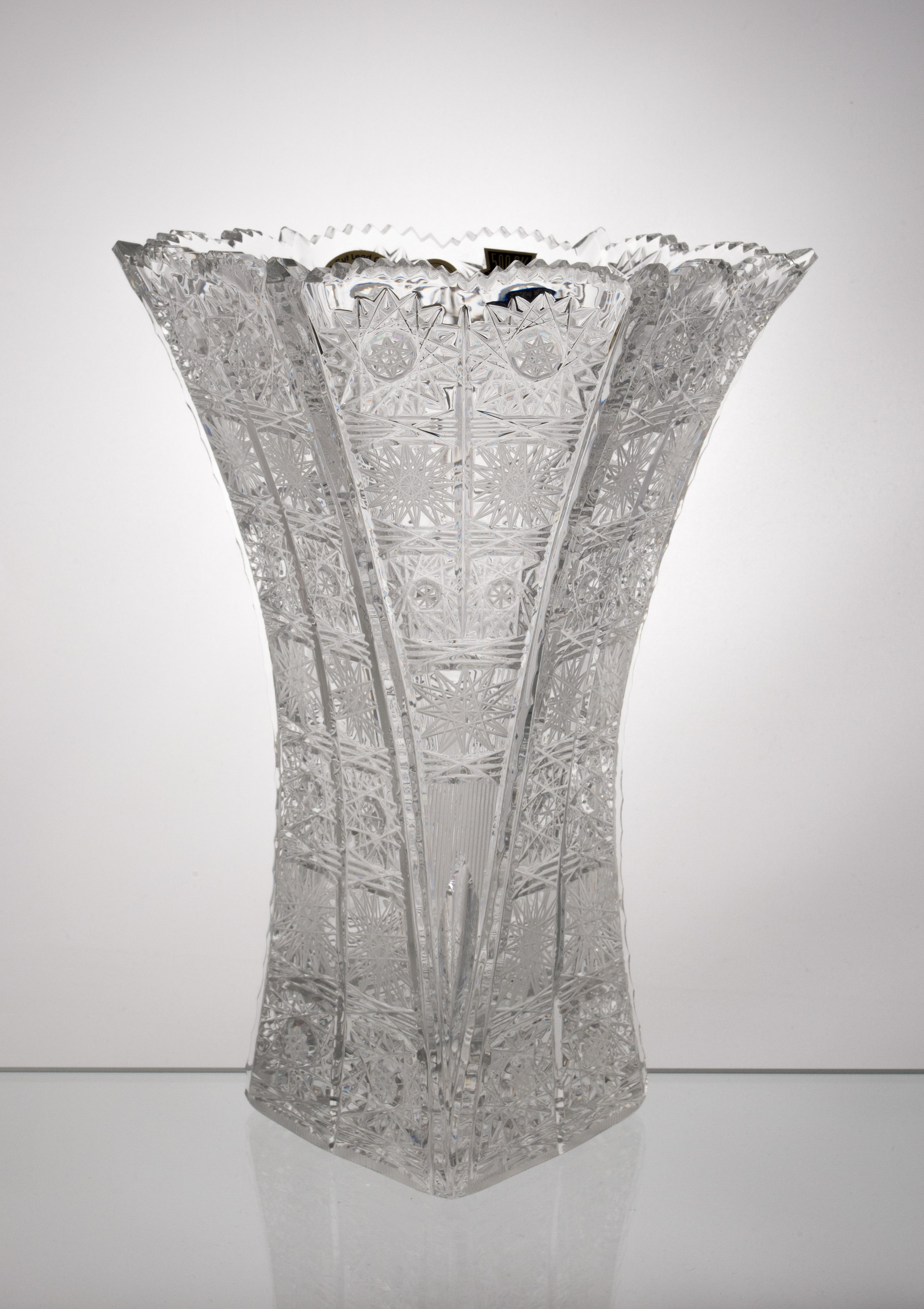 Czech Crystal Cut Vase