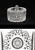 Cut Crystal Round Candy Box