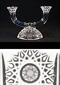 Bohemia Crystal Cut Candlestick