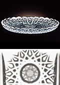 Bohemia Crystal Cut Round Plate
