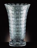 Bohemian Crystal Cut Vase