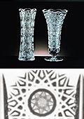 Concave Cut Crystal Vase