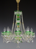 Chandelier 8 arms, green