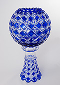 Blue Crystal Vase - Sphere