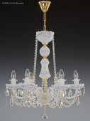 Chandelier 6 arms, sandblasted