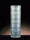 Cylinder Crystal Cut Vase