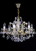 Maria Theresa Crystal Chandelier 6 bulbs