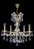 Brass Maria Theresa Chandelier 5 bulbs
