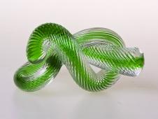 Zelený uzel sklo