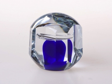 Blue Paperweight, Faceted