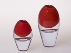 Crystal Red Vase