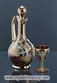 Enameled Red Wine Set
