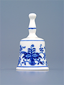 Miniature Blue Onion Porcelain Bell