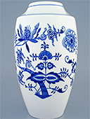Tall Blue Onion Porcelain Vase