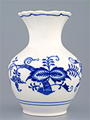 Blue Onion Porcelain Fat Vase