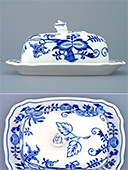 Zwiebelmuster Butter Dish With Cover