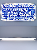 Blue Onion Porcelain Tray