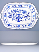 Blue Onion Porcelain Tray with Handles