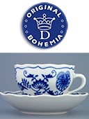 Blue Onion Coffee Cup With Saucer