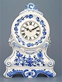 Porcelain Fireplace Clock With Roses