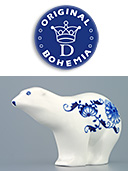 Blue Onion Porcelain Bear
