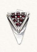 Silver Garnet Earrings