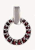 Silver Garnet Pendant