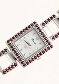 Czech Garnet Silver or Gold-plated Watch