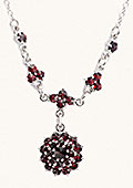 Silver Garnet Necklace