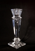 Faceted Crystal Tall Candlestick